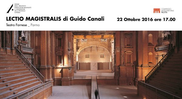 LECTIO MAGISTRALIS DI GUIDO CANALI