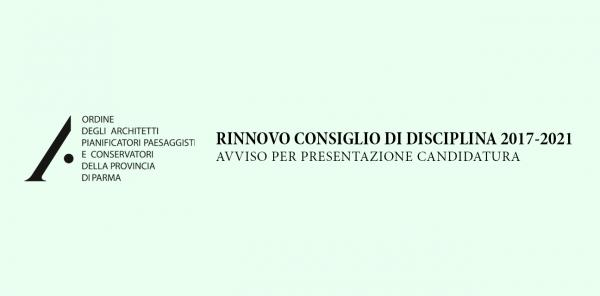 Rinnovo Consiglio di Disciplina 2017-2021