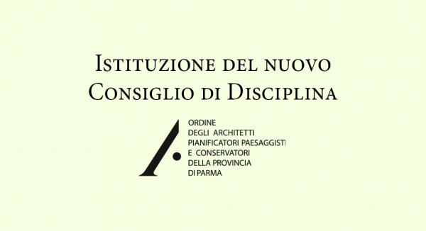Istituzione del nuovo Consiglio di Disciplina
