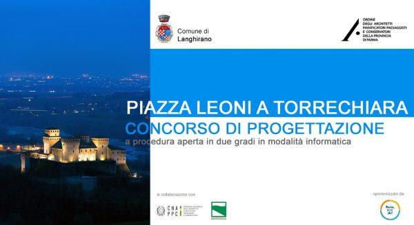 Proclamati i tre finalisti del concorso di progettazione per Piazza Leoni a Torrechiara