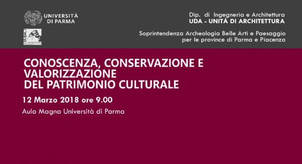 """Conferenza """"Conoscenza, conservazione e valorizzazione del patrimonio architettonico"""""""