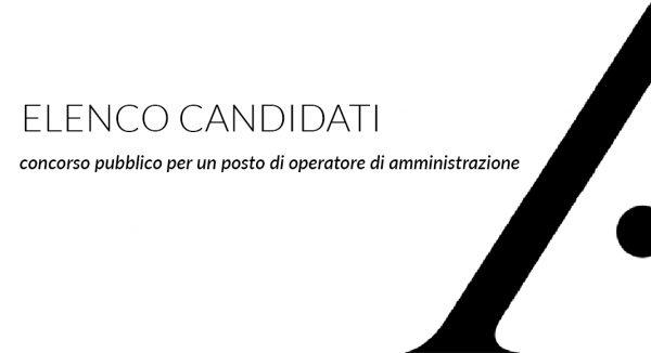 Elenco dei candidati ammessi al concorso pubblico per un posto categoria B1 e calendario delle prove