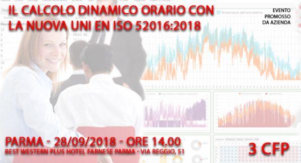 Seminario: Calcolo dinamico orario con la nuova norma UNI EN ISO 52016: 2018