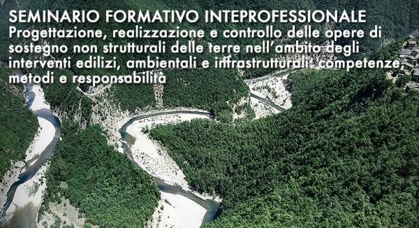 Formazione: Progettazione, realizzazione e controllo delle opere di sostegno non strutturali delle terre nell'ambito degli interventi edilizi, ambientali e infrastrutturali