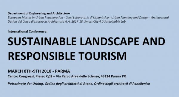 "Convegno internazionale ""Sustainable Landscape and Responsible Tourism"""