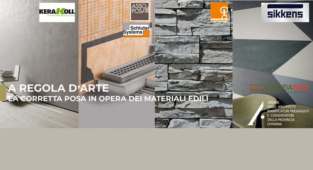 Formazione: A regola d'arte - La corretta posa dei materiali edili