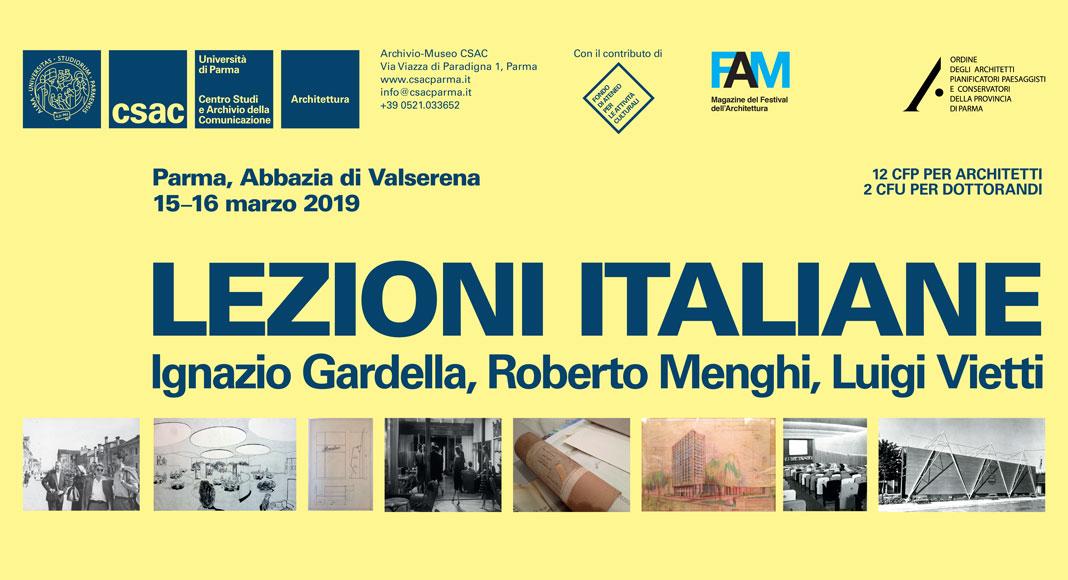 Formazione: Lezioni Italiane, Ignazio Gardella, Roberto Menghi, Luigi Vietti