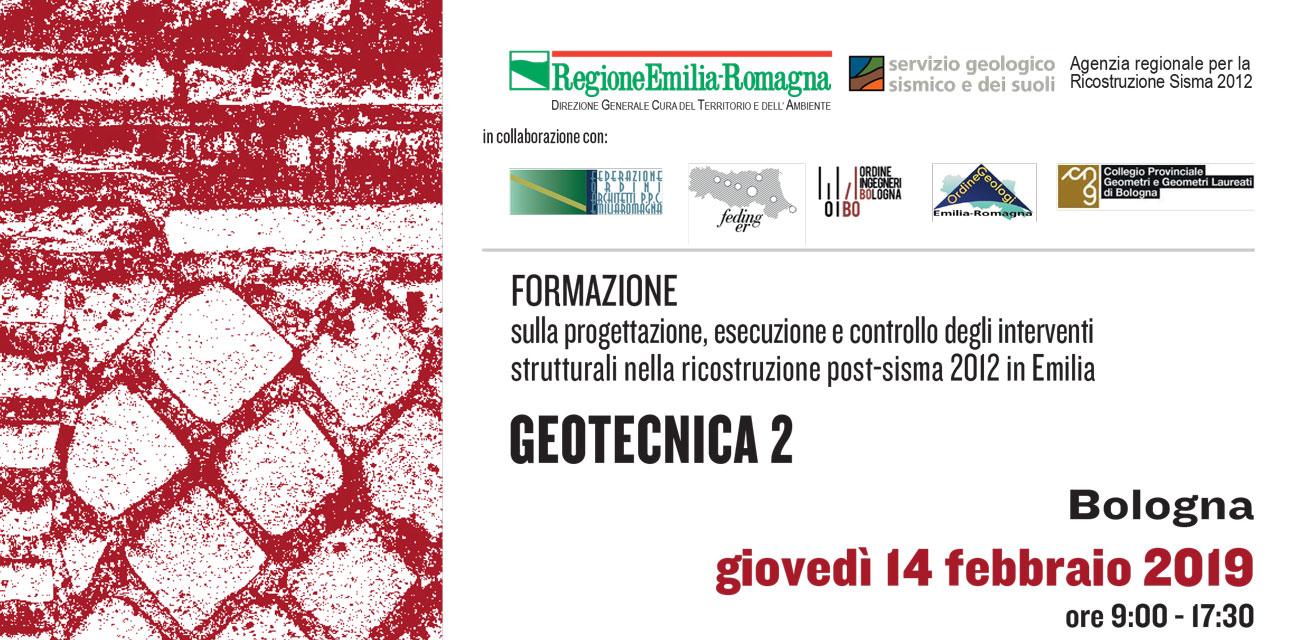 Seminario iter tecnico-formativo Ricostruzione post-sisma 2012: Geotecnica II