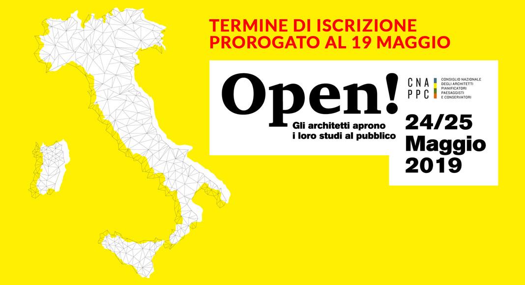 OPEN- STUDI APERTI IN TUTTA ITALIA: proroga dei termini di iscrizione